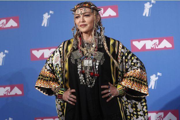 Madonna aux MTV Video Music Awards lundi à New York.