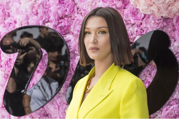 Bella Hadid au défilé Dior à Paris en juin 2018