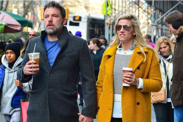 Ben Affleck et Lindsay Shookus à New York, le 21 janvier 2018