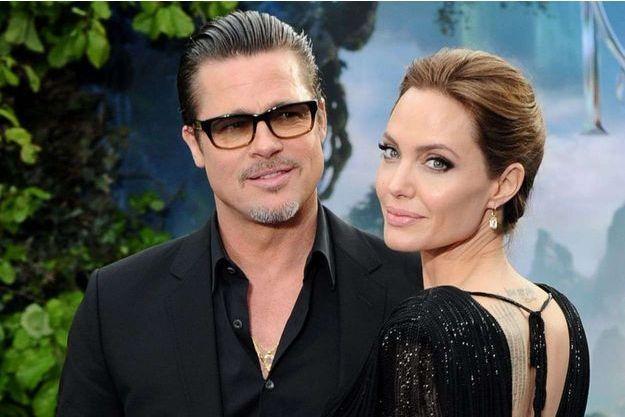 Brad Pitt et Angelina Jolie à Londres en 2014.