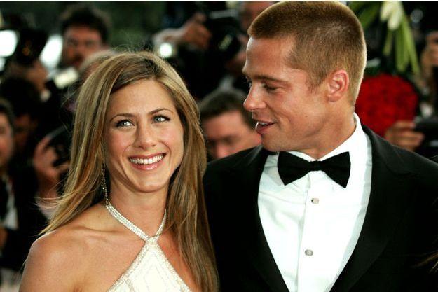 Jennifer Aniston et Brad Pitt à Cannes en 2004.