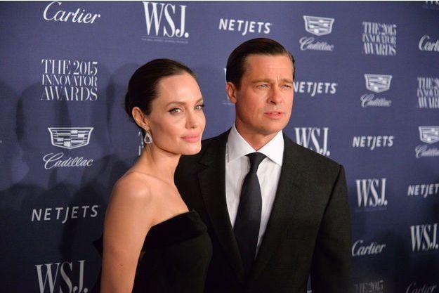 Angelina Jolie et Brad Pitt en novembre 2015
