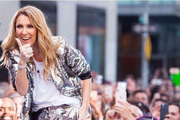 Céline Dion en concert à New York, en juillet 2016.