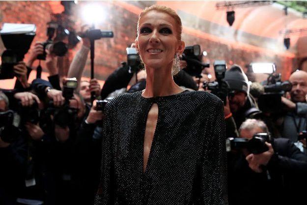 Céline Dion au défilé Alexandre Vauthier, en janvier à Paris.
