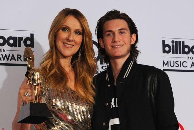 Céline Dion et son fils aîné René-Charles, mai 2016