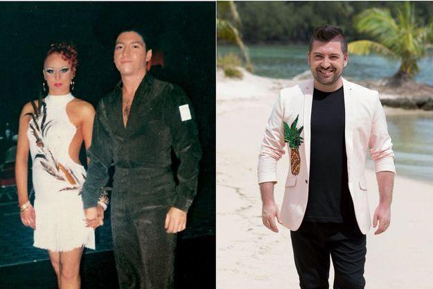 A gauche, Chris Marques et Jaclyn, en 2003. A droite, Chris 15 ans plus tard.