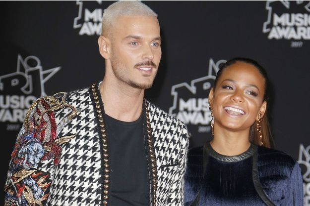 Matt Pokora et Christina Milian aux NRJ Music Awards 2017.