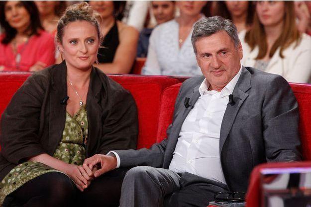 Daniel Auteuil et sa fille Aurore chez Michel Drucker en 2013