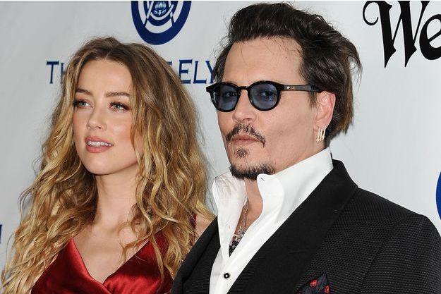 Amber Heard et Johnny Depp en janvier 2016.