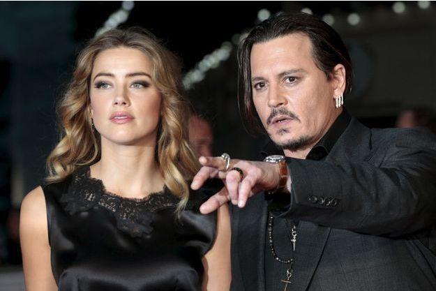 Amber Heard et Johnny Depp à Londres le 11 octobre dernier.