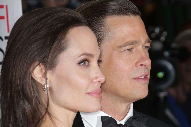 Angelina Jolie et Brad Pitt en novembre 2015.
