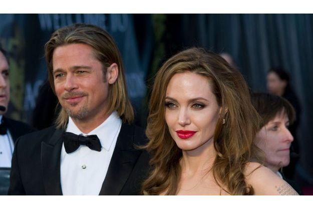 Brad Pitt et Angelina Jolie, en février 2012.