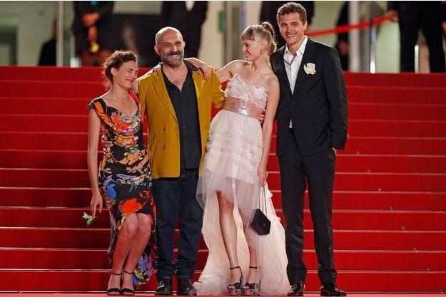 Sur le red carpet de Cannes, l'équipe de «Love» de Gaspar Noé.
