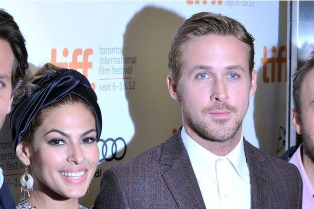 "Eva Mendes et Ryan Gosling à la première de ""The Place Beyond The Pines"" à Toronto en septembre 2012."