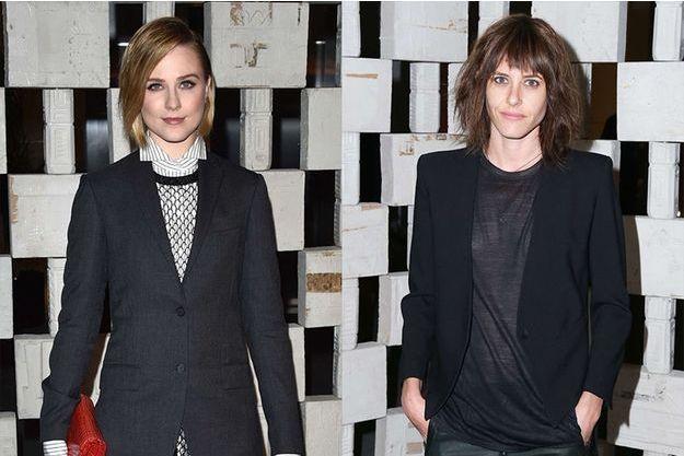 Evan Rachel Wood et Katherine Moennig à Los Angeles le 11 octobre 2014