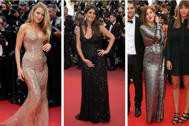Blake Lively, Géraldine Nakache et Valérie Donzelli sur le tapis rouge pour la cérémonie d'ouverture du 69ème Festival de Cannes