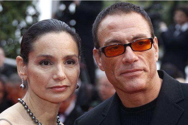 Jean-Claude Van Damme et Gladys Portugues au Festival de Cannes 2010