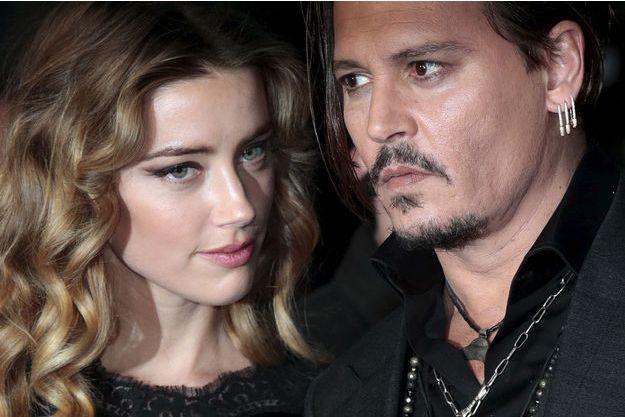 Amber Heard et Johnny Depp, à Londres, en octobre 2015.