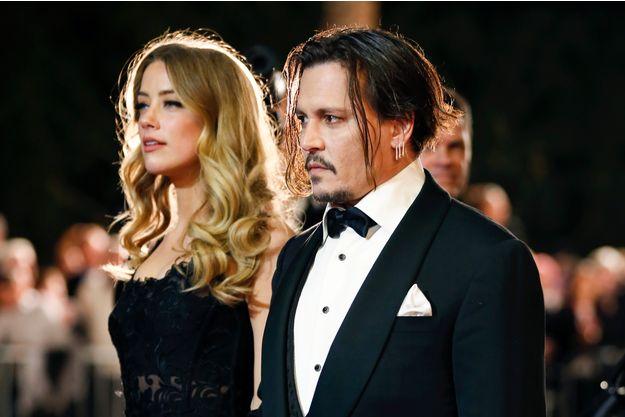 Johnny Depp et Amber Heard au 27e Festival du film international de Palm Springs, le 2 janvier 2016.