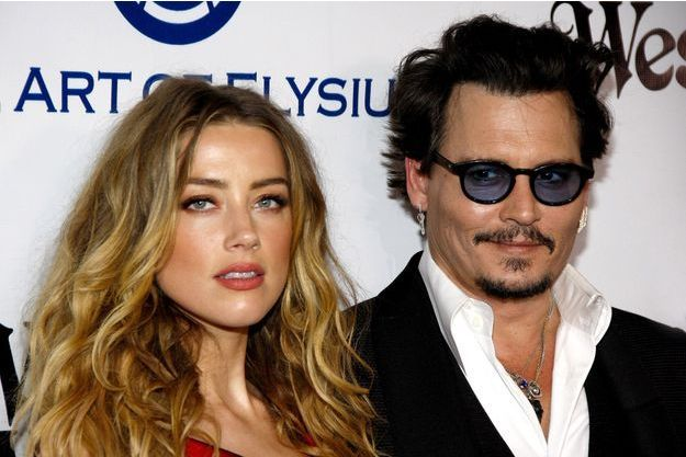 Johnny Depp et Amber Heard en janvier dernier.