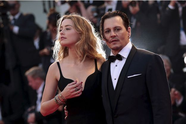 Amber Heard et Johnny Depp à Venise, en septembre 2015.