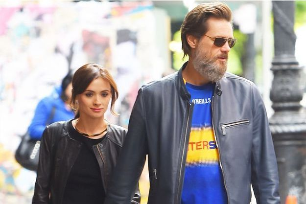 Jim Carrey et sa petite amie en mai dernier.