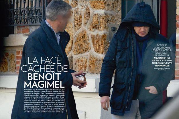 Benoît Magimel après la perquisition, dimanche 13 mars.