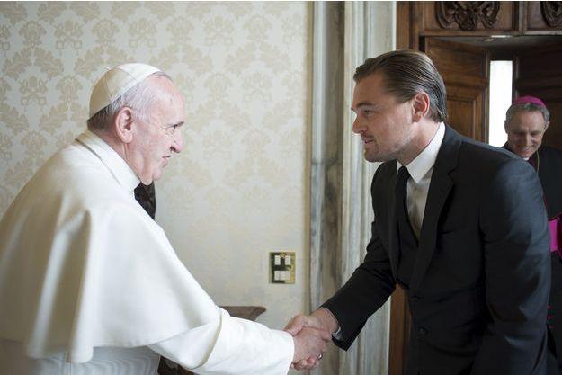 Leonardo DiCaprio et le Pape François