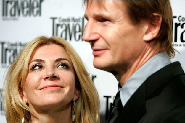 Natasha Richardson et Liam Neeson lors du Conde Nast Traveler's Annual Readers Choice Award à NYC le 16 octobre 2006