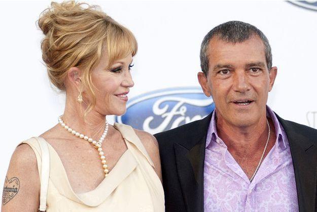 Melanie Griffith et Antonio Banderas le 10 août dernier, lors d'un gala à Marbella.