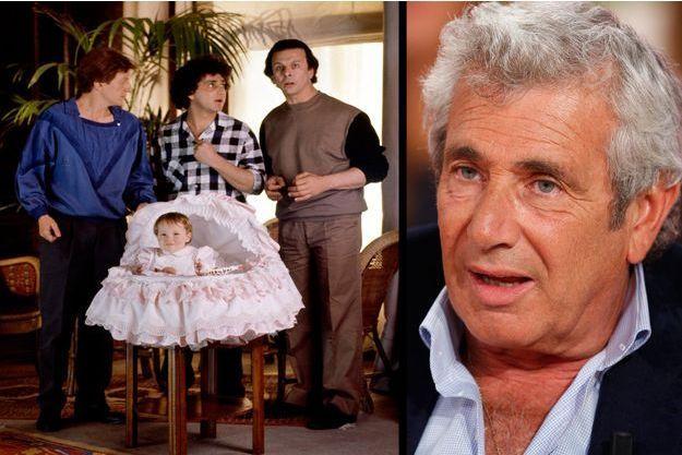 """Michel Boujenah, aux côtés d'André Dussollier et de Roland Giraud dans """"Trois hommes et un couffin"""" en 1985 - Michel Boujenah le 3 septembre 2014."""