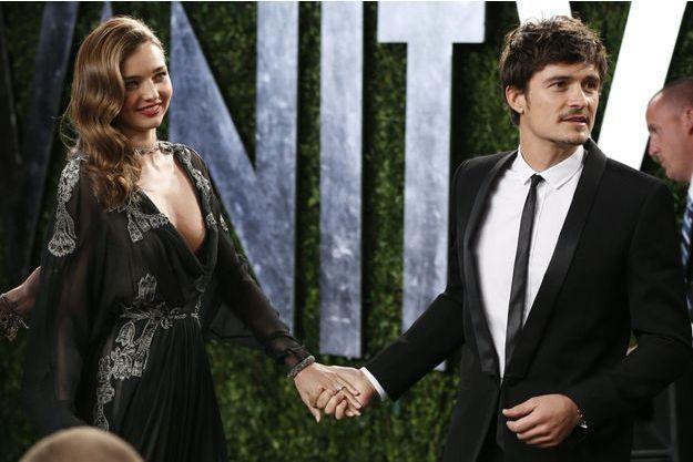 Miranda Kerr et Orlando Bloom en février dernier, à la soirée post-Oscars de «Vanity Fair».