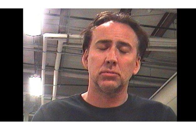"""Le """"mugshot"""" de Nicolas Cage, photo d'identification prise lors de sa garde à vue ce week-end."""