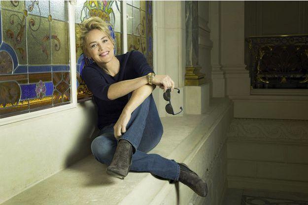 Sharon en toute simplicité, dimanche 16 novembre, à l'hôtel Shangri-La, dans le XVIe arrondissement.