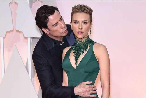 John Travolta et Scarlett Johansson aux Oscars, le 22 février dernier