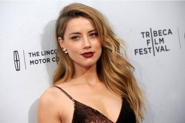 Amber Heard à New York le 18 avril 2015.