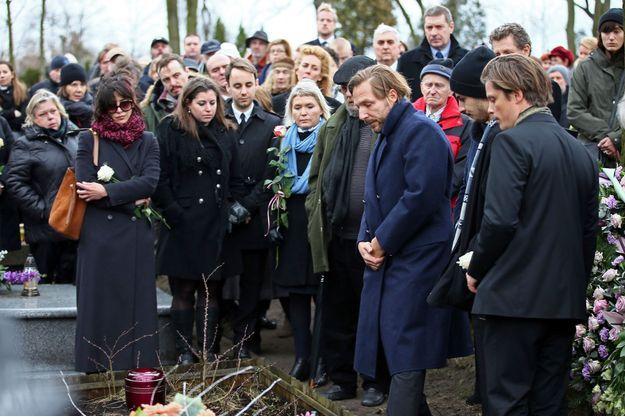Sophie Marceau à l'enterrement d'Andrzej Zulawski