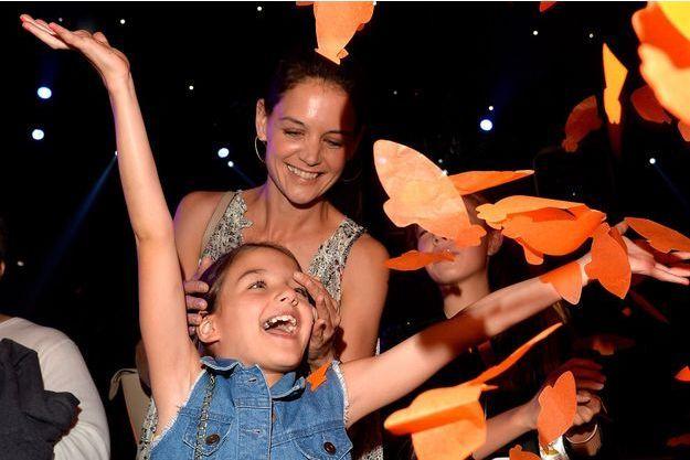 Katie Holmes et sa fille Suri en mars 2015.
