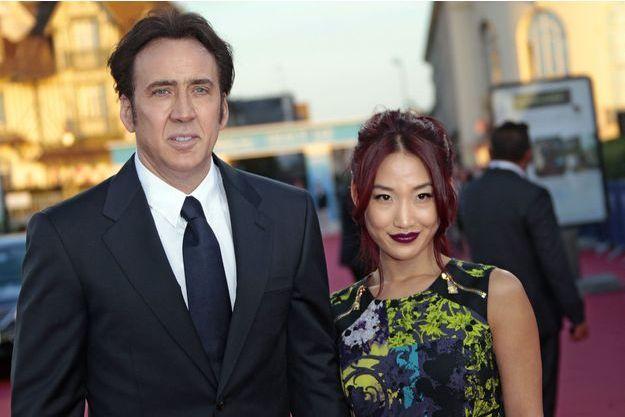 Nicolas Cage et son épouse Alice Kim à Deauville en septembre 2013.
