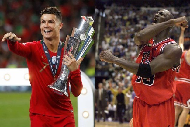 Cristiano Ronaldo et Michael Jordan (montage).