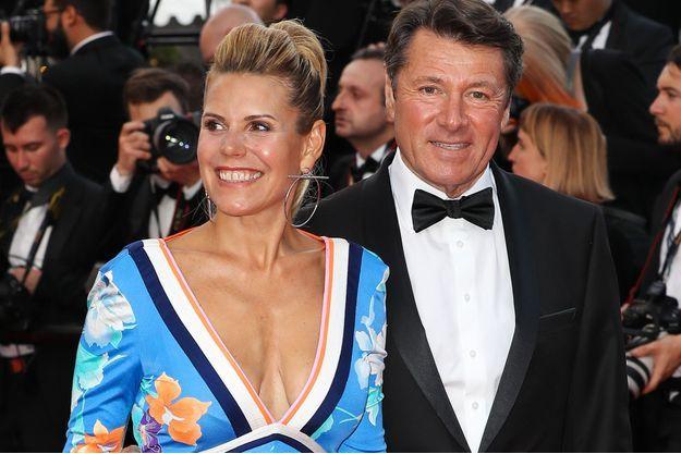 Laura Tenoudji et Christian Estrosi à Cannes, le 8 mai 2018.