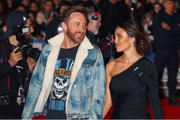 David Guetta et Jessica Ledon à Cannes, le 4 novembre 2017