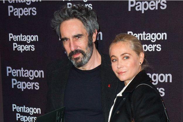 Emmanuelle Beart et Frédérc Chaudier à Paris, le 13 janvier 2018