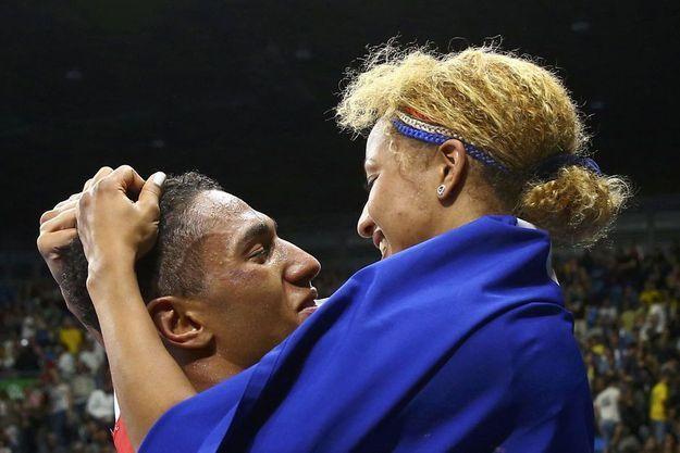 Estelle Mossely et Tony Yoka aux JO de Rio.