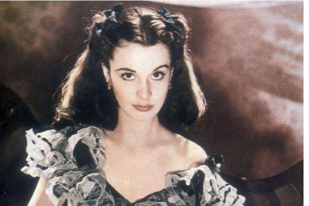 L'actrice britannique Vivien Leigh alias Scarlett O'Hara, l'héroïne du film Autant en emporte le vent (1939)