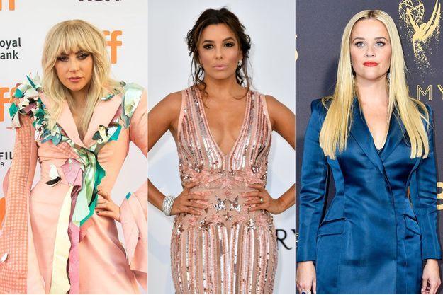 Lady Gaga, Eva Longoria et Reese Witherspoon.