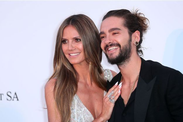 Heidi Klum et Tom Kaulitz à Cannes, le 17 mai 2018