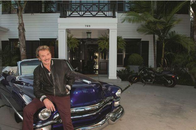 Johnny à Los Angeles, photographié par son ami Gilles Bensimon en décembre 2013.
