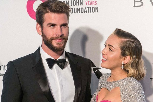 Liam Hemsworth et Miley Cyrus en mars 2018, à Los Angeles.