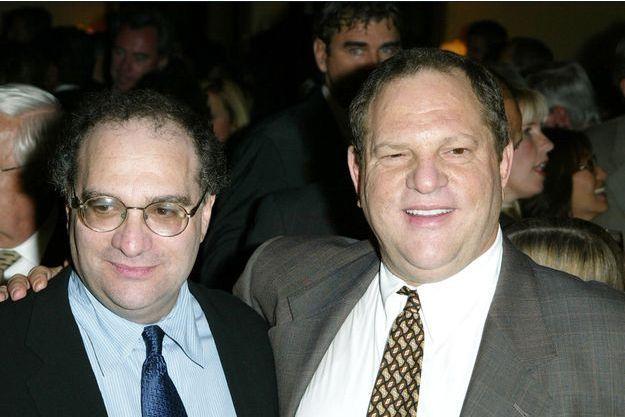 Bob et Harvey Weinstein le 25 août 2003.